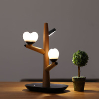 Treant Body Induction Small Night light Usb Charge Bedroom Bedside Decoration With Sleep Desk Lamp Solid Wood Love Atmosphere