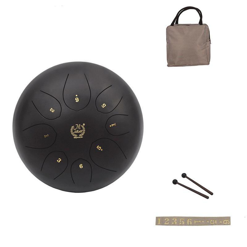 Tongue Drum 10 inch 8 Note Percussion Instrument with Musical Mallet for Yoga Personal Meditation Zen Camping Music Therapy 14 inch double tone afanti music snare drum sna 109 14
