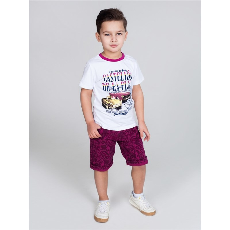 [Available with 10.11] Shorts textile for boys lace hem floral print cami top with shorts