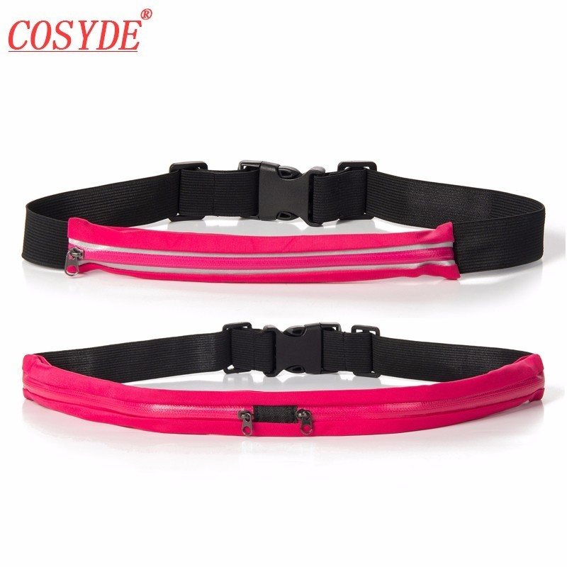 Free Shipping Waterproof Adjustable Outdoor Running Bags Elastic Jogging Waist Bag Anti Theft Sports Fanny Pack Fitness Camping