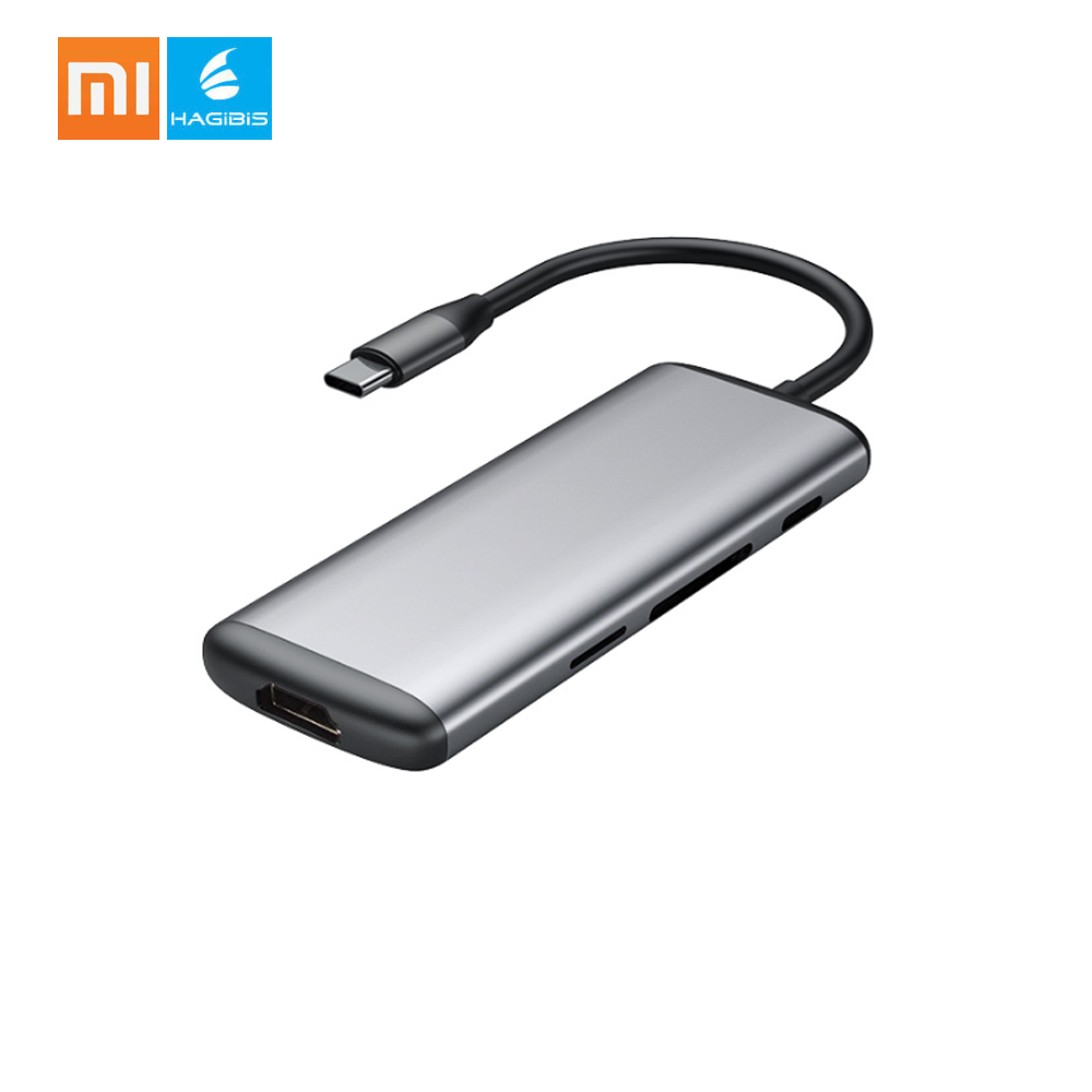 Xiaomi Hagibis USB Type C Hub Multi functional Charging Adapter 6 Ports Male to Female Charging