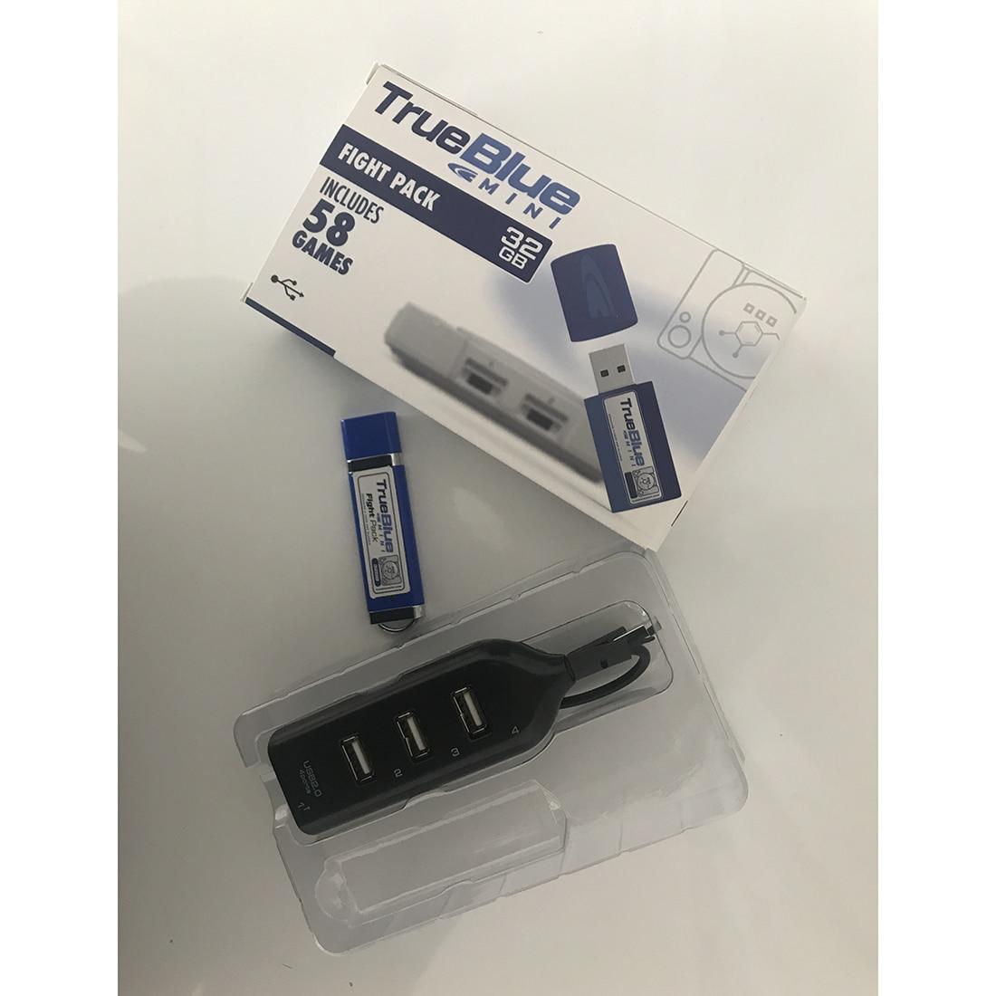HOBBYINRC vrai bleu Mini 64G 101 jeux craquelé Pack + 64G 101 jeux Meth Pack pour PlayStation classique jeux & accessoires - 3