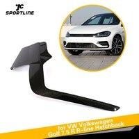 Bumper Fins For VW Volkswagen Golf 7.5 2017 2018 R Line Hatchback 4 Door Carbon Fiber Accessories Bumper Vents Winglets