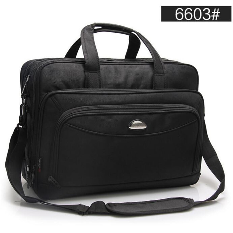 Image 2 - Large Capacity Business Men 17 Inches Briefcases Black Bags Men's Waterproof Computer Laptop Briefcase Male Travel Shoulder Bag-in Briefcases from Luggage & Bags