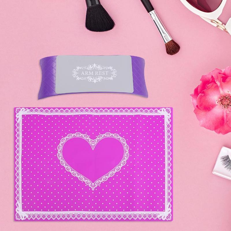 1 Pc Nail Art Arm Rest Salon Maniküre Hand Kissen Kissen Halter Mit Waschbar Spitze Rand Silikon Matte Make-up Nägel Zubehör Ausreichende Versorgung