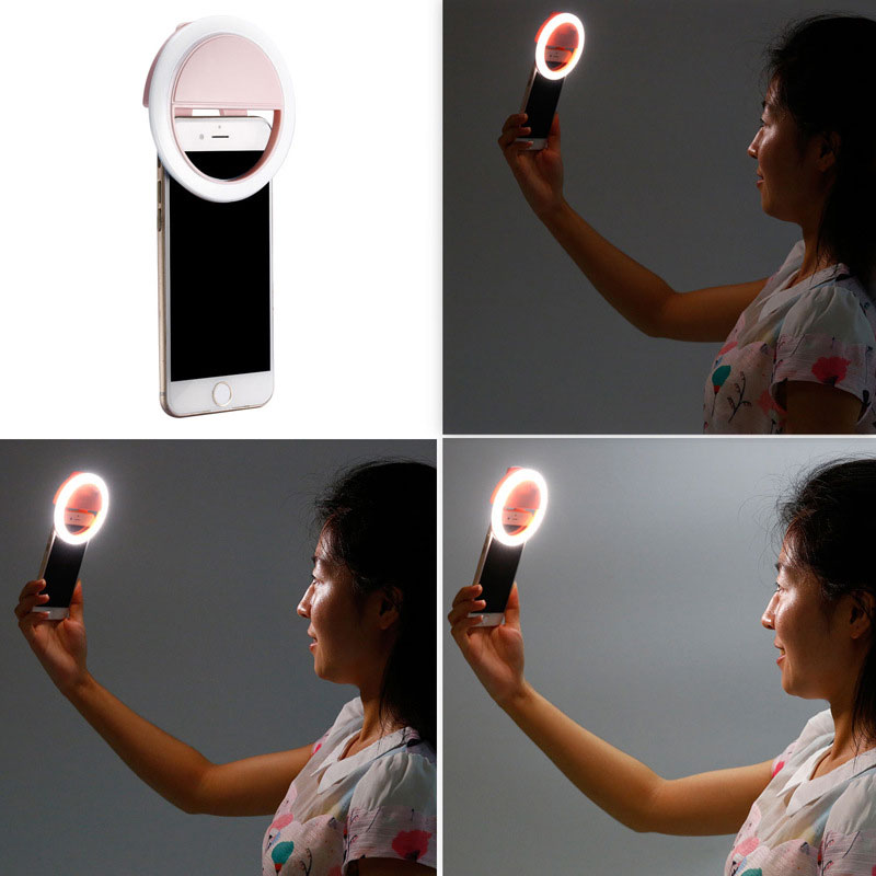 Smartphone Selfie Portable Flash Led Light Phone Creative Right Light Rechargeable Selfie Ring Light For Phone