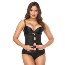 Black Latex Waist Cincher Body Shaper Neoprene Plastic Bone Corset Slimming Vest Trainer Plus Size Girdle Belt