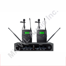 Pro SKM9000 2x100 Channel Lavalier Wireless Microphone System Stage Performance Singing Mics Set