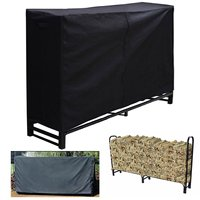 Firewood Log Rack Protection Cover 240X120X34cm Waterproof Polyester Dust Covers Home Garden Patio UV Rain Canopy Shelter