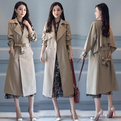 Supérieure Femme Classique coat Couture Double Haute Marque 1 Breasted Automne De Nouvelle 2 Vêtements Imperméable Affaires Trench Qualité q0d4pwHp