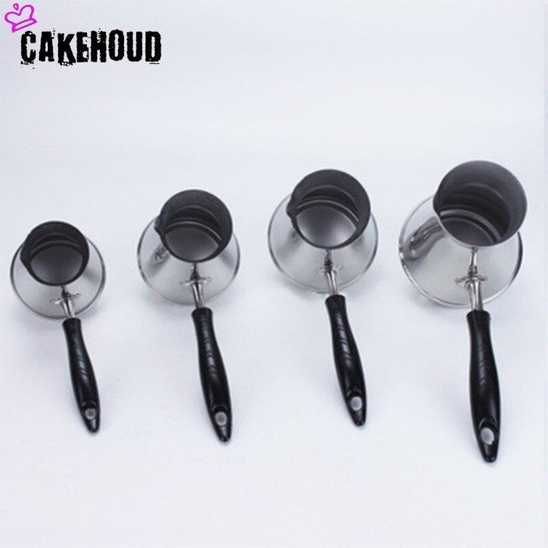 CAKEHOUD Европейский горшок с длинной ручкой Moka портативный турецкий арабский кофейник из нержавеющей стали плавильный горшок для масла кофей...
