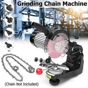 Image 1 - Large grinding wheels Saw Chain Grinder Electric Chainsaw Sharpener 230W 3600RPM for Bench Chainsaw Sharpener AU/UK/EU/US plug