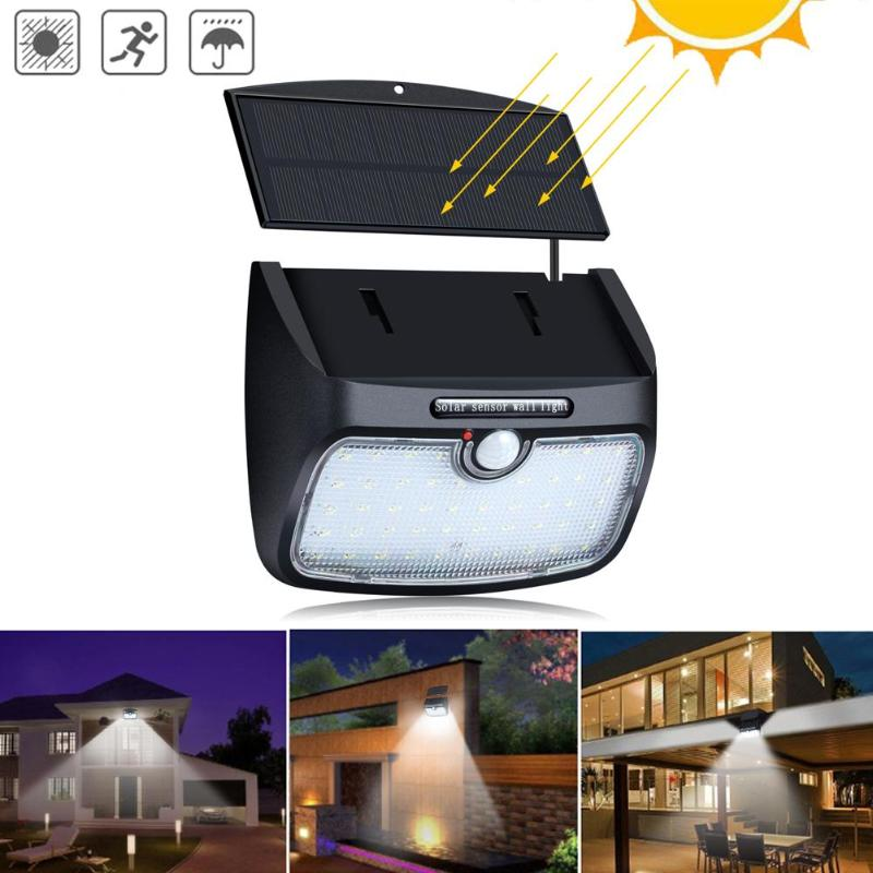 48 LED Solar Lamp For Outdoor Garden Wall Yard Fence  800lm With Line Separable Solar Power Light Three Working Modes Functional