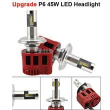 2Pcs P6 H4 LED Headlight Bulbs All-in-One Conversion Kit Headlights 90W 9000LM/set High Power Bulb