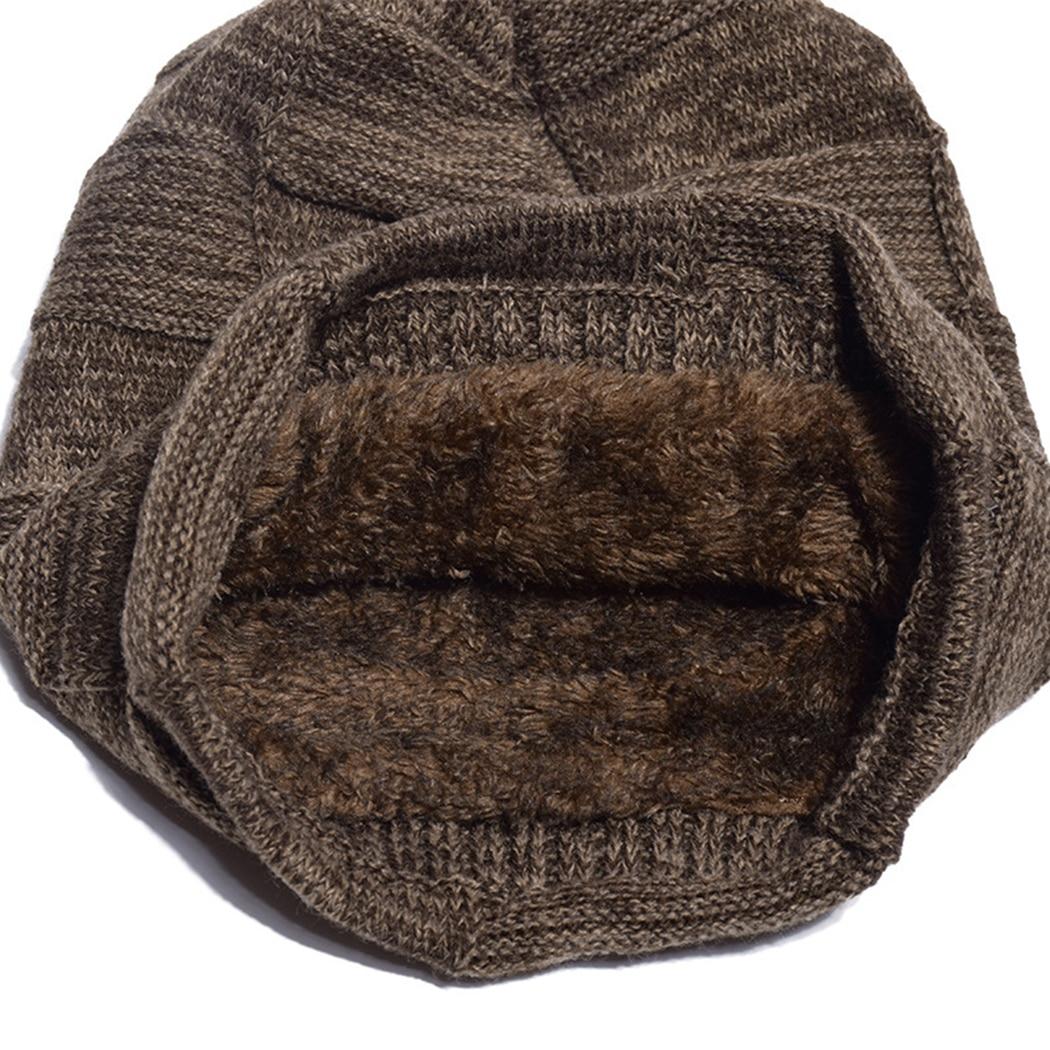Apparel Accessories Men's Scarf Sets Men Velvet Warm Winter Hats Scarf 2018 Fashion Wool Knitted Cap Beanies Neck Warm Male Solid Hip Hop Hat Ring Scarves Bonnet