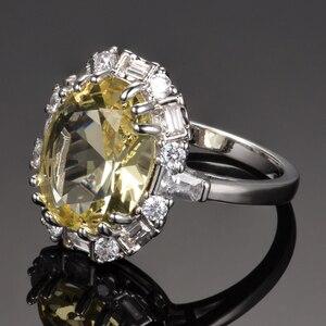 Image 2 - Nasiya utworzono cytrynowe pierścienie z kamieniami szlachetnymi dla kobiet prawdziwe 925 srebro biżuteria pierścionek rocznica ślubu Paty prezent hurtownia