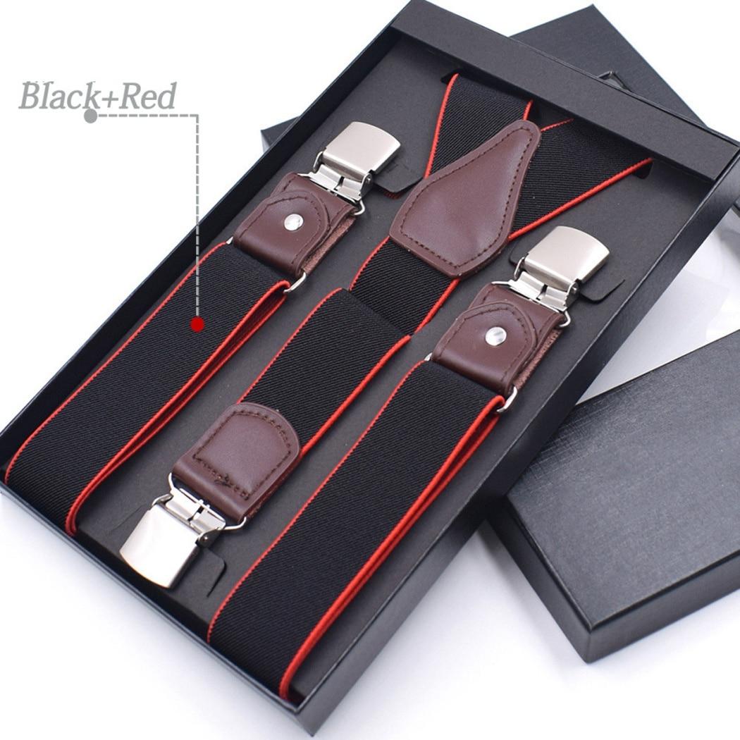 Men Vintage Suspenders Braces Pants Adjustable Suspenders Elastic Y-Shape Clip-On Trousers Straps Suspensorio Bretelles Homme