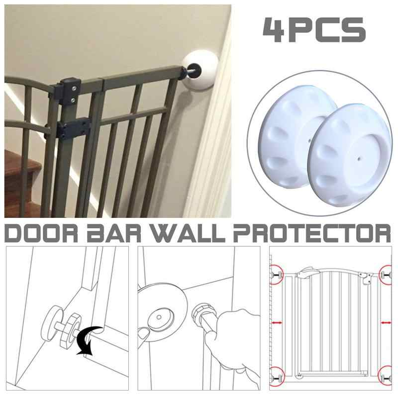 4pcs Children Safety Pet Free Of Punch Gate Indoor Wall Bumper Anchor Accessories For Parapet Wall Gate Corridor Fence
