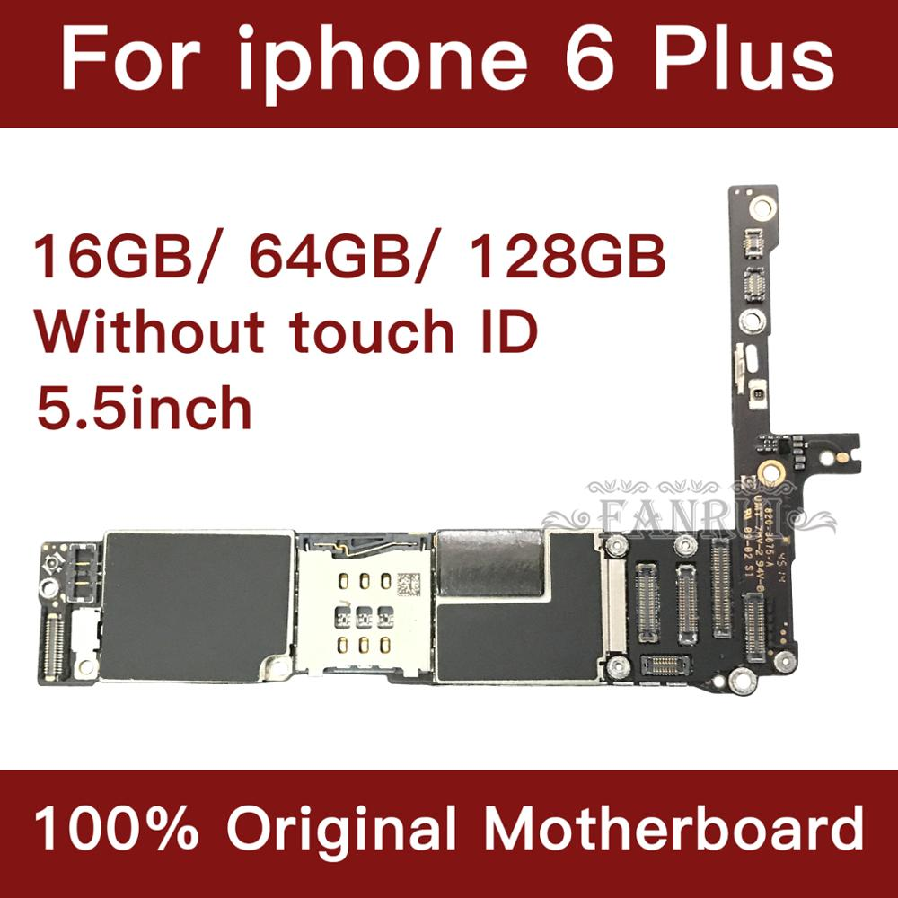 For IPhone 6 Plus Motherboard 5.5inch Unlock Mainboard Full Function 100% Original IOS Installed Logic Board Without Touch Id
