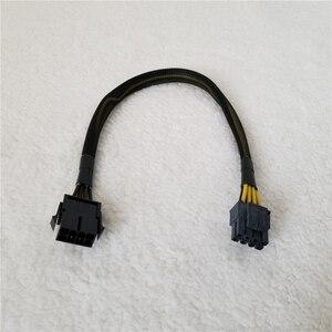 Image 1 - 8Pin 남성 여성 어댑터 전원 연장 케이블 ATX 전원 CPU 충전기 공급 그물 커버 18AWG 30cm