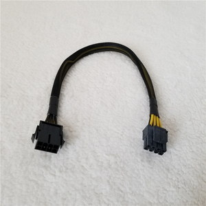 Image 1 - 8Pin ذكر إلى شاحن أنثي كابل تمديد الطاقة ل ATX وحدة المعالجة المركزية السلطة مصدر شاحن مع صافي غطاء 18AWG 30 سنتيمتر