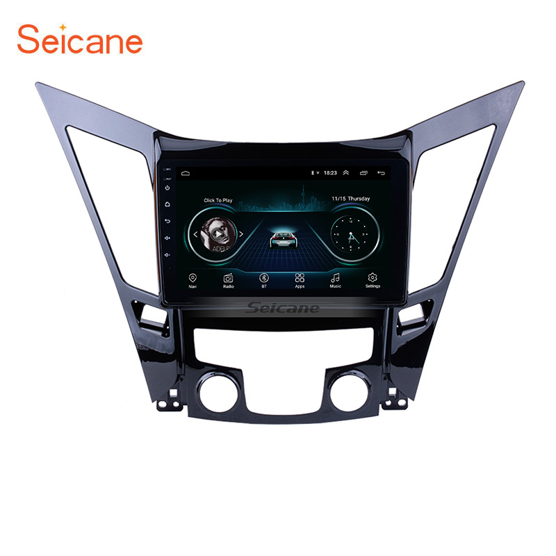 Seicane Android 8.1 Car Multimedia Player Radio For 2011 2012 2013 2014 2015 <font><b>HYUNDAI</b></font> Sonata <font><b>i40</b></font> i45 2din 9 Inch <font><b>GPS</b></font> Head Unit image
