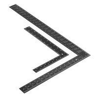 DANIU 블랙 스틸 양면 미터법 인치 각도 눈금자 90도 각도 눈금자 200x300mm/400x600mm 내구성