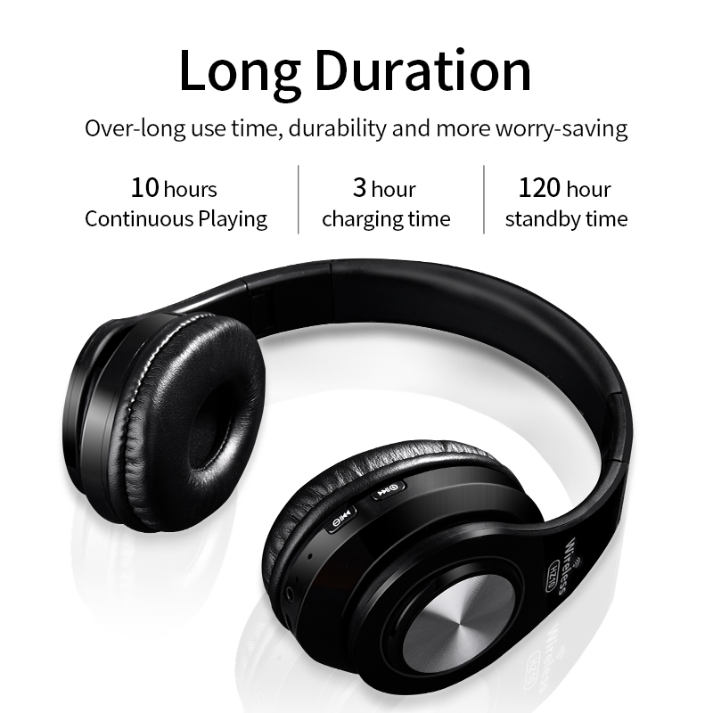 Wireless Headphones Bluetooth Headset Foldable Noise Cancelling Headphone Adjustable Earphones With Microphone For Pc All Phone Best Wireless
