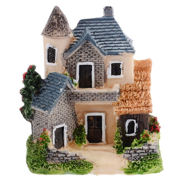 Miniature House Fairy Garden Micro Landscape Resin Craft House For Garden Home Decoration