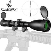 Имитация Swarovskl 4 20x56 SFIR RifleScopes Mil Dot стекло F40 1 Crosshairs охотничьи прицелы Сделано в Китае