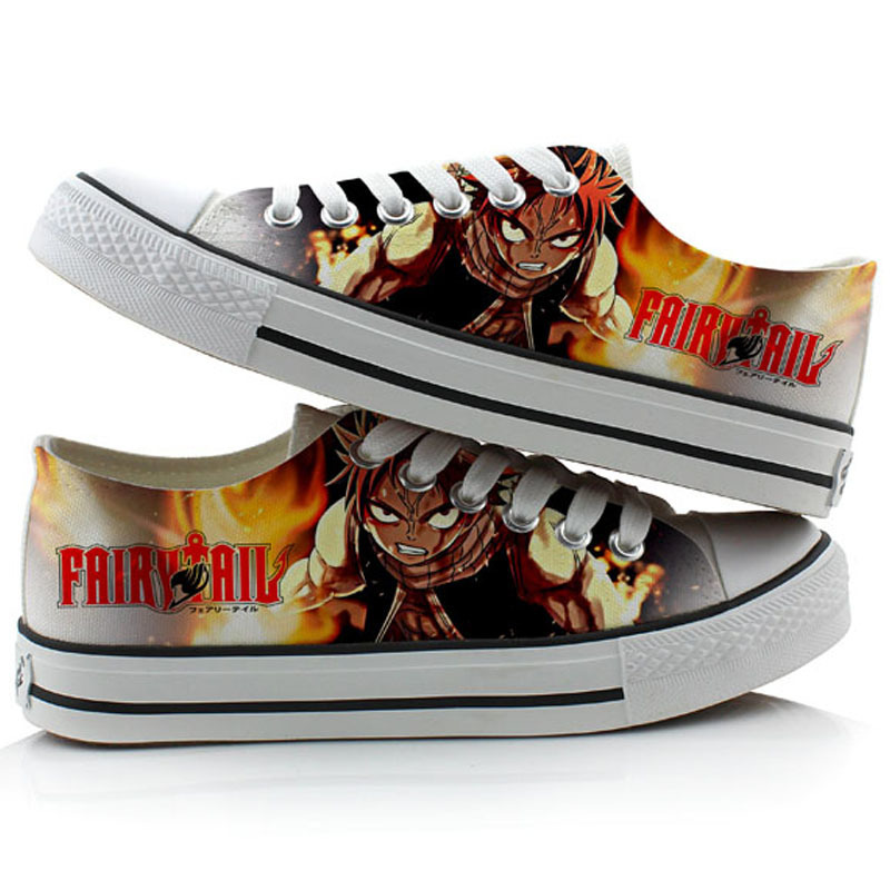NEW Anime Fairy Tail  Cosplay Casual Sneakers Canvas Shoes Unisex