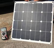 Sunpower 18V 50W Flexible Solar Panel  with Insulating Backsheet Modules for Fishing Boat Car RV 12V Battery Charger
