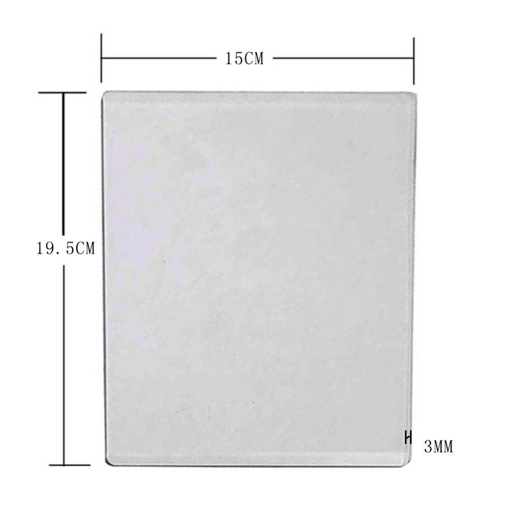 15x19.5x0.3cm 3mm de espessura diy acrílico morrer corte máquina de gravação placa substituição almofada scrapbooking papel ofício
