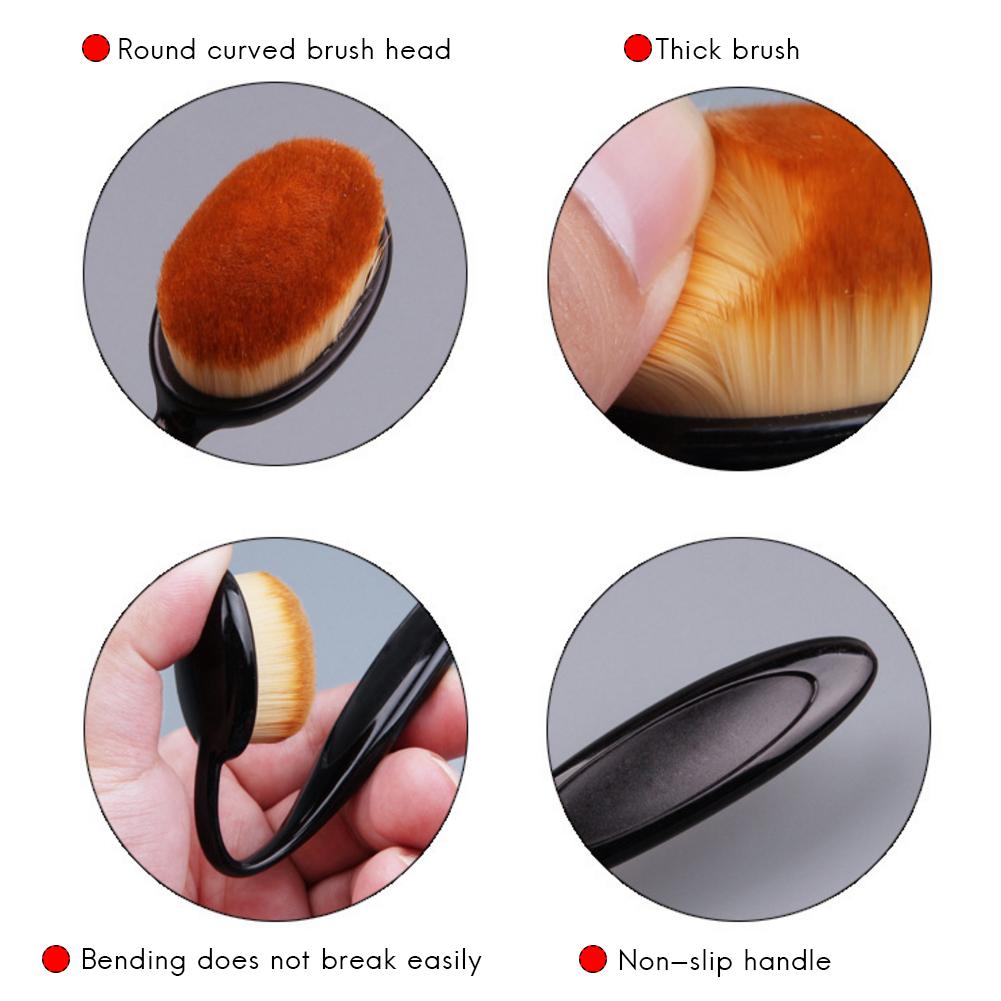 Women Makeup Brushes Soft Oval Cosmetic Makeup Toothbrush Pro Blush Face Powder Foundation Brush Makeup Tool