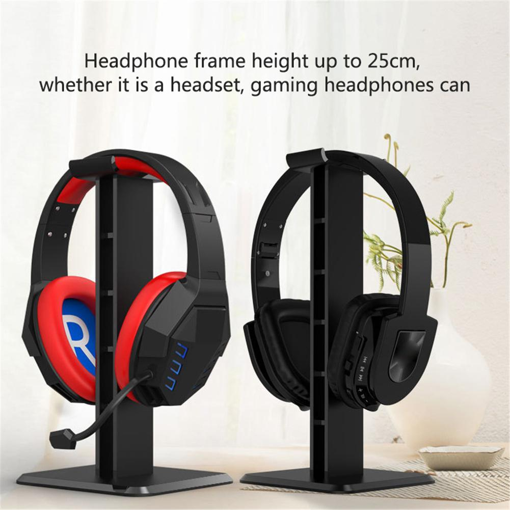 Image 5 - Headphone Holder Head Mounted Hook Display Shelf Headphone Bracket Hanger Support Bracket Black White 10cm*10cm*25cm New-in Earphone Accessories from Consumer Electronics