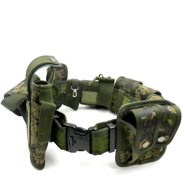 New camouflage Tactical Molle Belt Men's Army Special 1000D Nylon military belt Convenient combat Girdle Adjustable Soft Padded 5