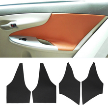 For Toyota Corolla 2007 2008 2009 2010 2011 2012 2013 Microfiber Leather Interior Door Panel Cover Sticker Trim цена и фото