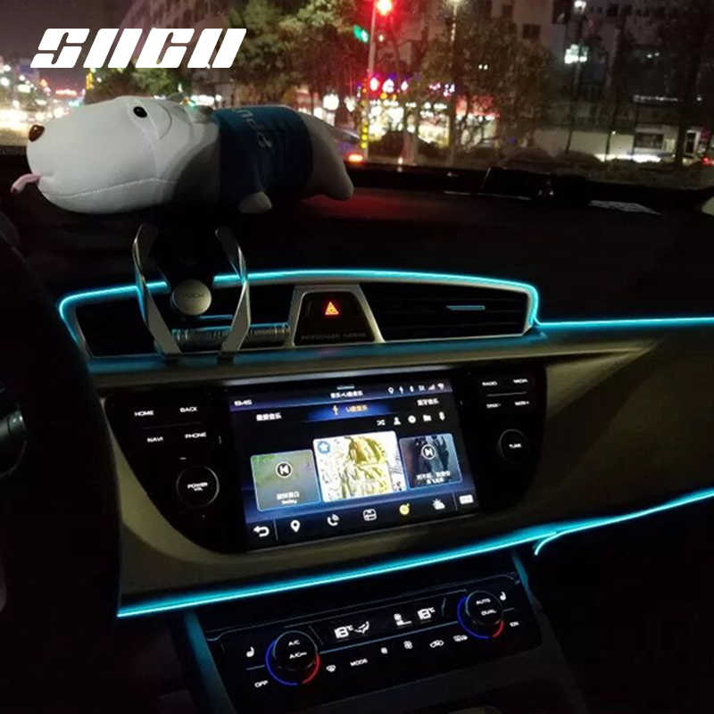Flexible Neon Car Interior Atmosphere LED Strip Lights For Renault Zoe Twingo Clio Captur Megane Scenic Kadjar Koleos Plug&Play