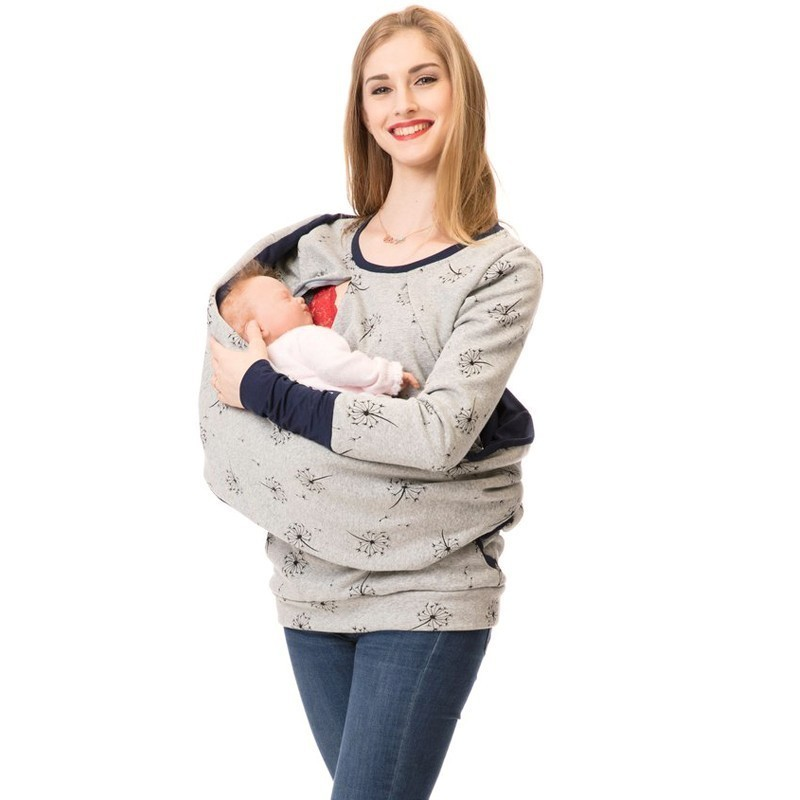 Breastfeeding Tops Clothes Winter Maternity Nursing Tops Pregnancy Clothes For Pregnant Women Maternity Hoodie