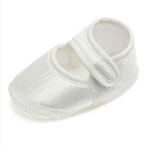 Bebé blanco primer caminador bebé niñas zapatos Casual recién nacido suave suela zapatillas cuna zapatos blancos para 0-6 meses