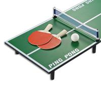 1 Set Mini Table Tennis Set Wooden Ping Pong Racket Table Portable Board Game Set Sport Entertainment Toy for Kids Children