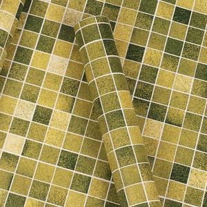Image 4 - מכירת מקלחת חדר Moasic עצמי דבק טפט Pvc עמיד למים קיר מדבקת אופנה מטבח Oilproof מדבקות אריחי אמבטיה