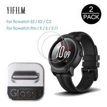 2 упаковки для Tic Watch S2 E2 C2 1 2 E Pro S Закаленное Стекло 9H 0,3 мм 2.5D Защитная пленка для Ticwatch S2 2nd E Smart Watch