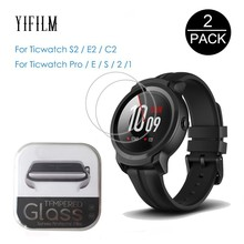 2Pcs For Tic Watch S2 E2 C2 C2+ plus 1 2 E Pro S Tempered Glass 9H 2.5D Screen Protector Film For Ticwatch S2 2nd E Smart Watch