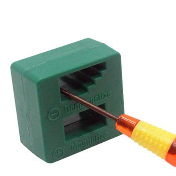 Magnetyzer Demagnetizer narzędzie na śrubokręt ławki wskazówek bity gadżet poręczny namagnesowane kierowcy szybkie magnetyczny rozmagnesowanie narzędzie tanie i dobre opinie Arc Pliku aiboduo