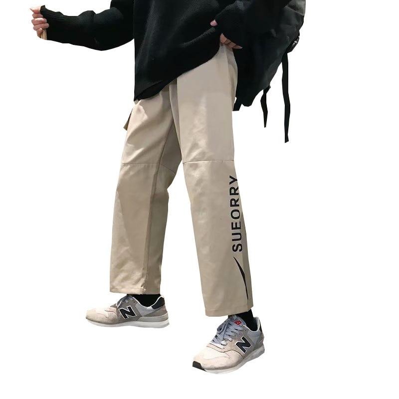 #3477 Direkt Kanister Overalls Männlichen Frühjahr Ins Flut Marke Freizeit Zeit Einfach Student Neun Teil Mehr Tasche Overalls