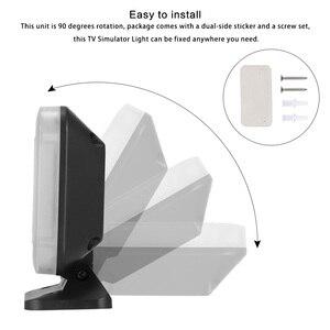 Image 4 - Powstro tv 시뮬레이터 회전식 도난 방지 가짜 tv (led 라이트 포함) usb 전원 내장 4 가지 모드 지원 타이머 led tv 시뮬레이터