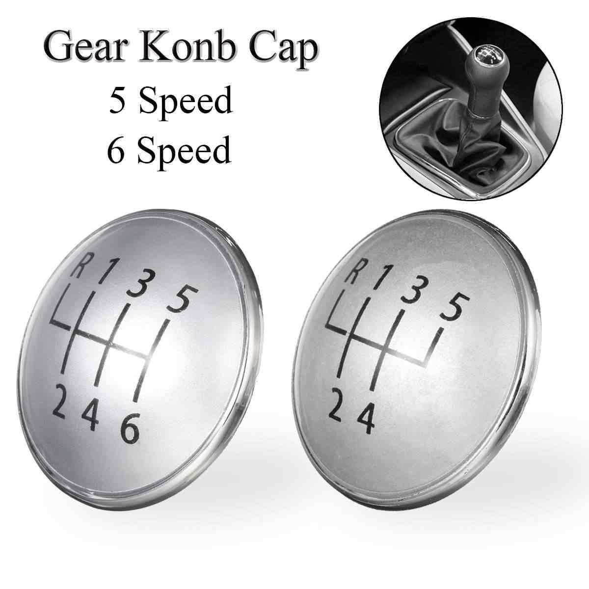 5/6 Speed Auto MT Pookknop Cover Cap Badge Voor VW Golf Jetta MK5 MK6 2003-2009