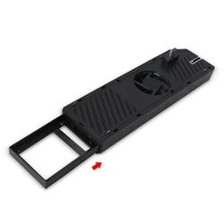 3 w 1 USB wielofunkcyjne 3.0 HUB dysk twardy SATA/SSD gra Host wentylator wyciągowy chłodnica płyta dla XBOX ONE (czarny) ABS