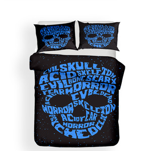 Image 2 - Bedding Set 3D Printed Duvet Cover Bed Set skull Home Textiles for Adults Lifelike Bedclothes with Pillowcase #KL06